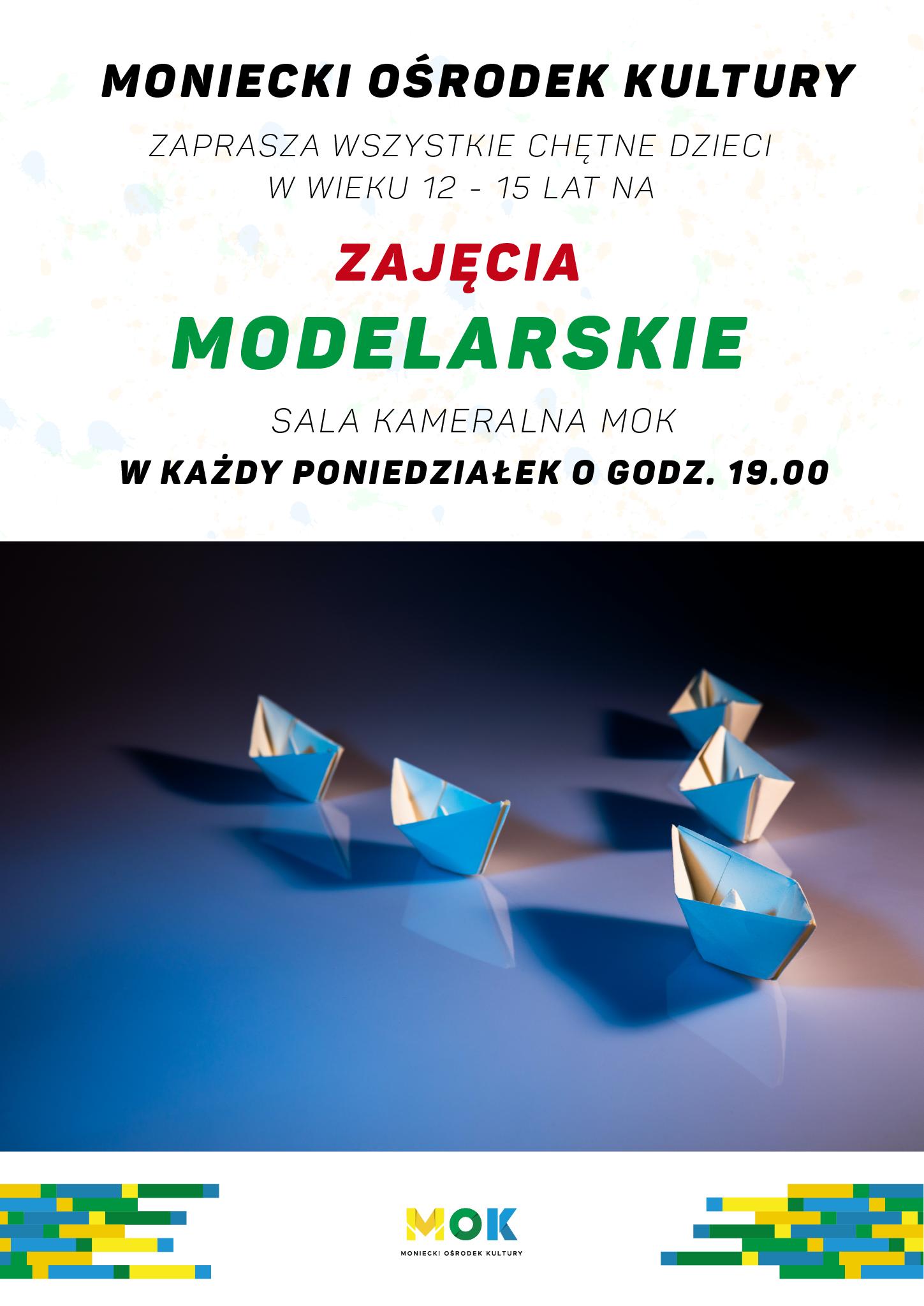 Plakat zajęcia modelraskie