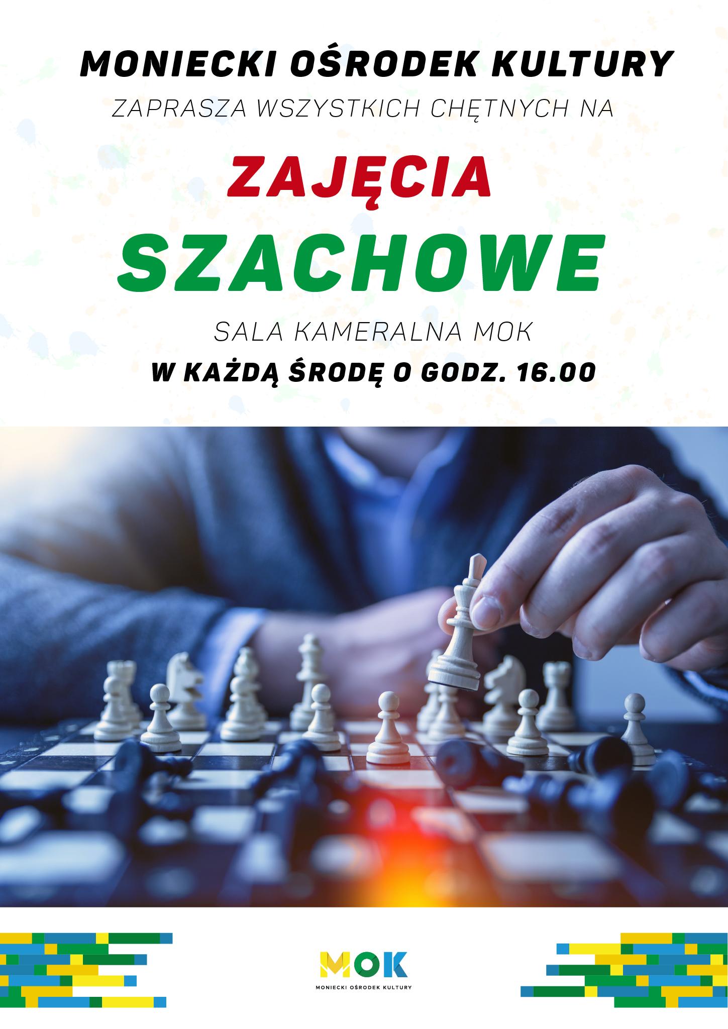 Plakat zajęcia szachowe