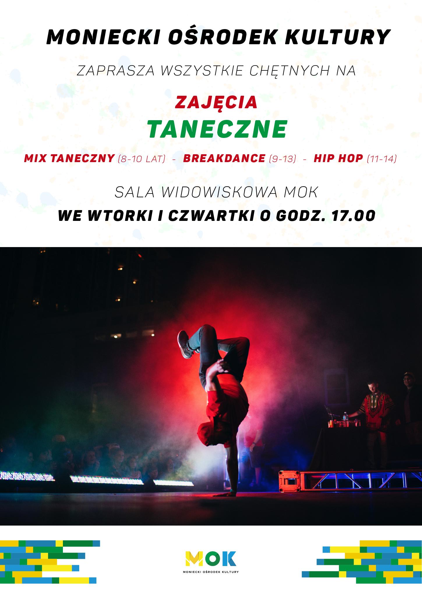 Plakat zajęcia taneczne