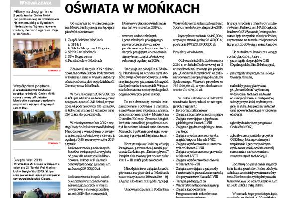 Okładka gazety Wieści Monieckie 4/2019 (61)
