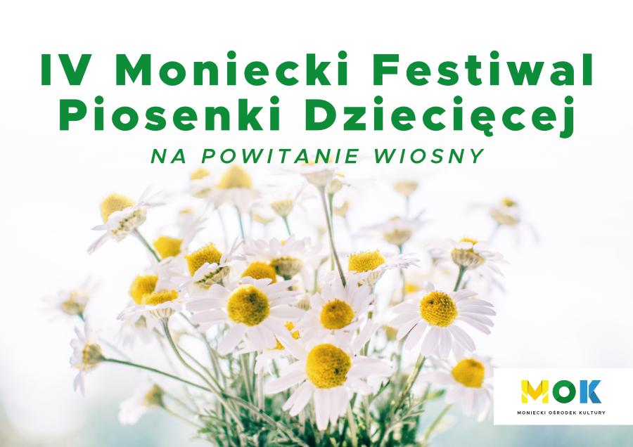 Obrazek wyróżniający IV Moniecki Festiwal Piosenki Dzecięcej