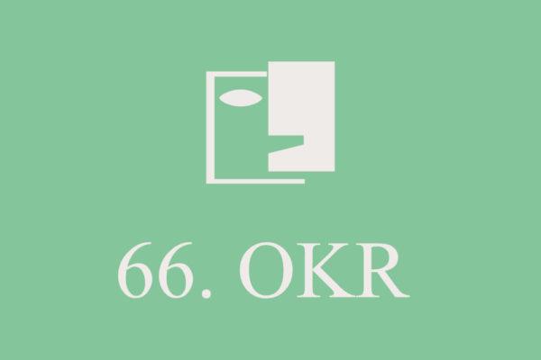 Grafika przedstawia logo 66 Ogólnopolskiego Konkursu Recytatorskiego