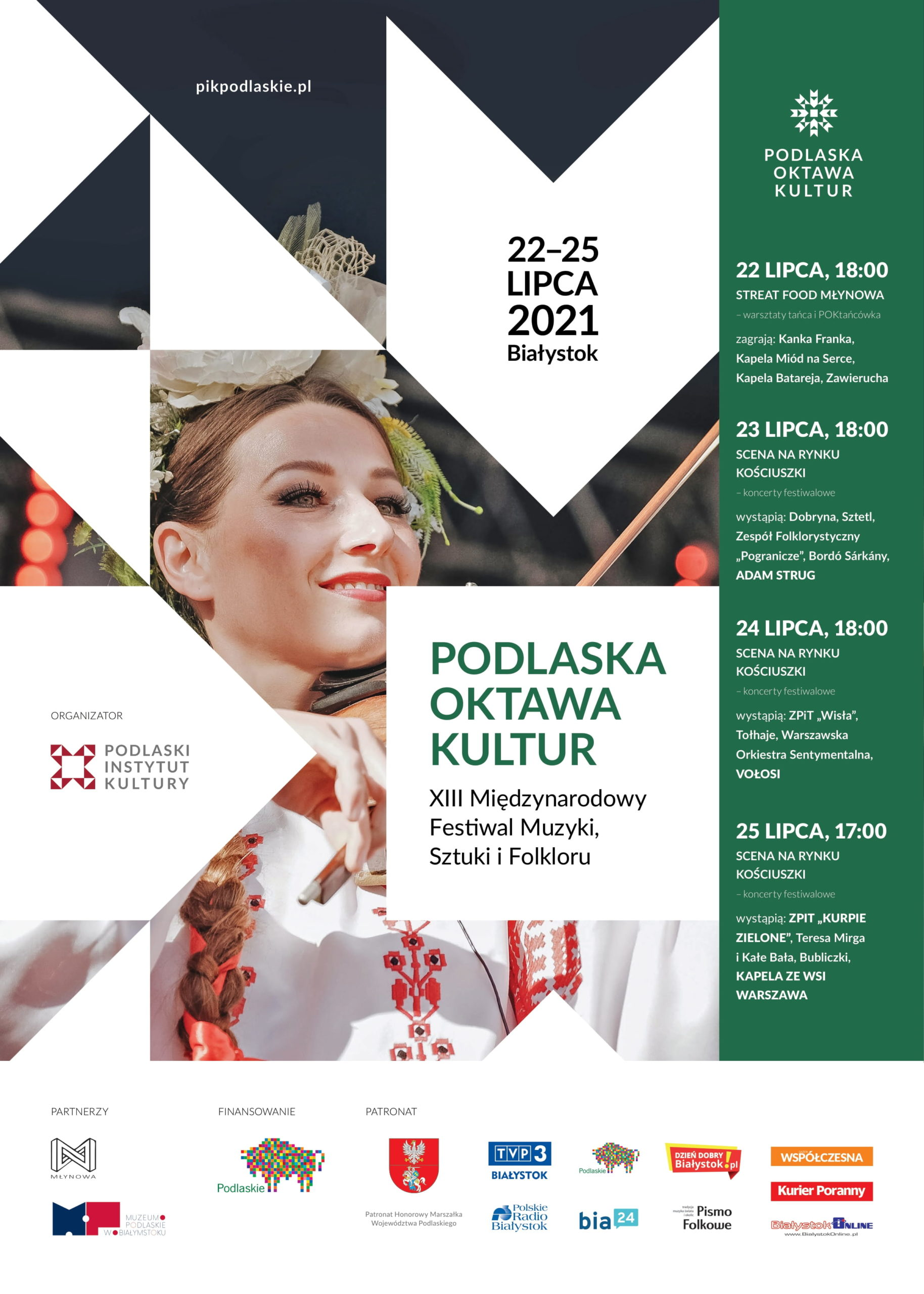 Plakat informacyjny Podlaskiego Oktawy Kultur 2021